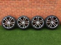 Genuine VW GTD Nogaro Alloys with Brand New Tyres