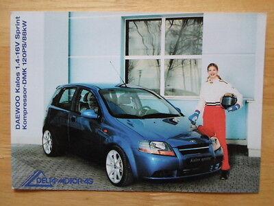 DAEWOO Kalos 1.4 16v Sprint by Delta Motor AG orig c2001 sales brochure