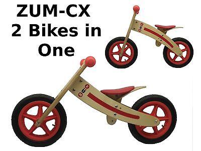 - ZUM-CX Wooden Balance/Push Bike - New - 3-Pack