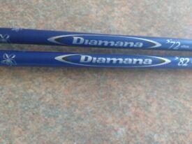 2 Titleist Diamana blueboard Stiff shafts