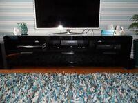 Black high gloss tv/entertainment unit
