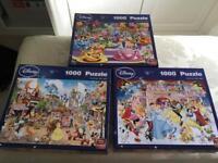 3 Disney 1000 jigsaws