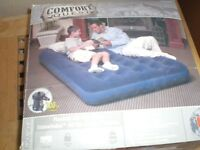 COMFORT QUEST DOUBLE BED SIZE FLOCKED AIR MATTRESS