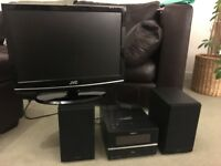 """JVC 15"""" TV/DVD player and Sony CD player/dab radio/ipod charger"""