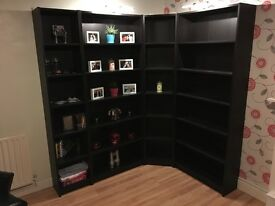Ikea Billy Book Case Black-Brown Corner Unit