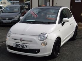 12/12 Fiat 500 0.9 Twinair Plus, White.**Zero Road Tax, One Owner, 3 Months Warranty, MOT May 2018**