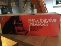 Prinz 35 photographic enlarger in original box