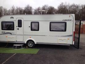 4 berth CARVAN to rent in private yard £400 pcm