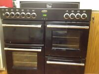 Belling Classic Range cooker, Black (2 electric ovens and grill, 7 gas burners)