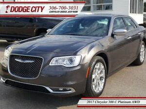 2017 Chrysler 300 C Platinum   AWD - Heated Leather, Remote Star