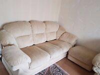 Cream sofa ( 3 seater + two )