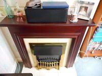 Edinburgh electric fireplace suite