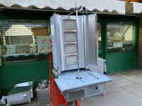NEW 4 burner gas doner kebab machine shawarmas machine commercial catering kitchen equipment