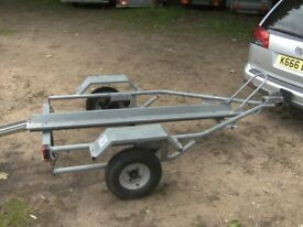 SINGLE MOTORCYCLE TRANSPORTER TRAILER 300KG FULLY GALVANISED........