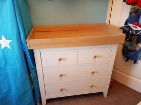 Mamas and Papas Dress / Changing station in Ivory and Wood