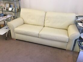 3 seater cream leather sofa just 5 months old so like new