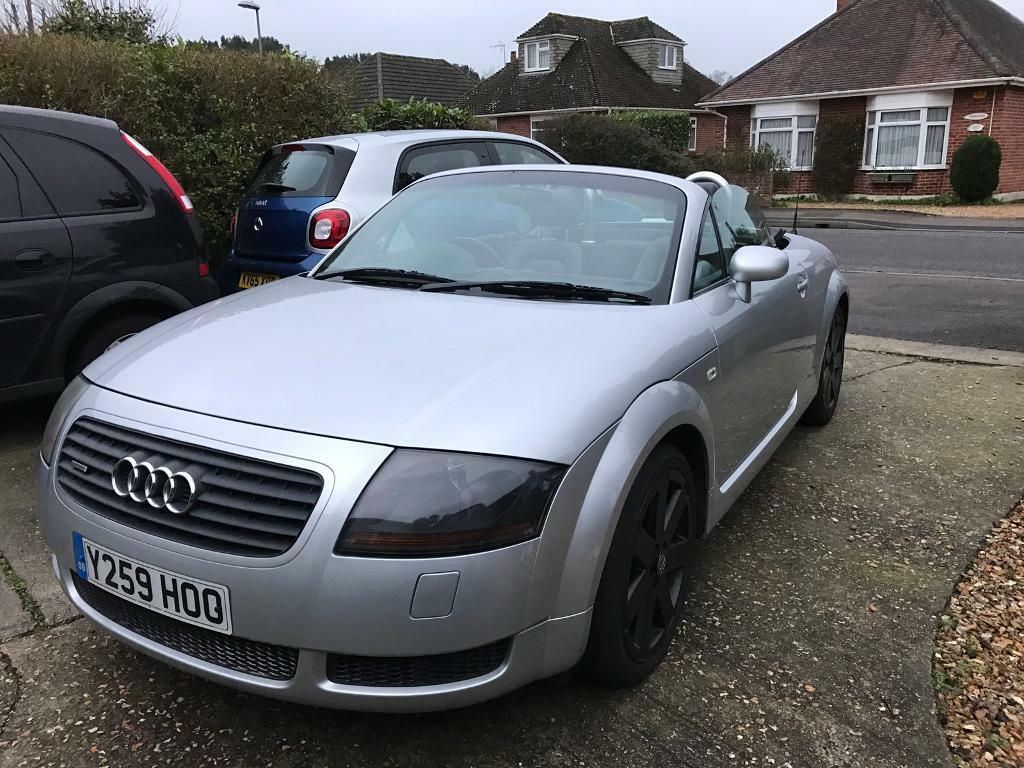 reduced 2001 silver audi tt quattro 225 roadster convertible great condition for its age in. Black Bedroom Furniture Sets. Home Design Ideas