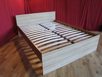 NEW Neo Oak Wood King Size Bed Base Only - NOT Leather, Fabric, Metal, Futon - Ideal for landlords