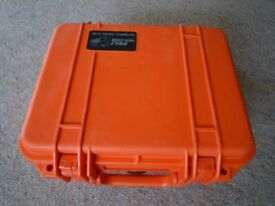 Peli 1400 Protector Case, Buoyant, watertight, unbreakable, corrosion proof and dustproof.