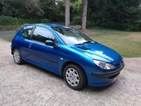 Peugeot 206 1.1 S Manual with A/C 2005 2 Door Hatch Metallic Blue New MOT 55k Family Owned