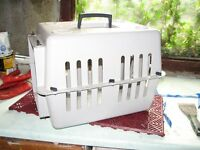 For sale - Grey plastic pet carrier for cat or small dog