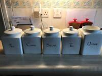 Kitchen storage jars tea, coffee etc