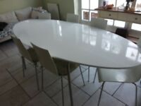 Ikea six seater oval dining table