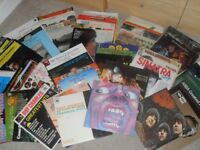 75 x Vinyl 33rpm albums for sale, mixed genres.