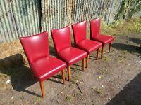 Vintage Mid Century Ben style dining chairs retro