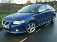 2008 58 VOLVO S40 2.0D SPORT*FACELIFT*S/HIST*LEATHER*R-DESIGN KIT*MINT COND'N*CHEAP TAX+INS#AUDI#BMW