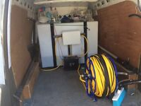 van fitted with reach and wash system