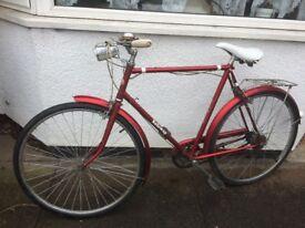 Lovely Vintage Elswick Hopper City Bike - Good Working Order