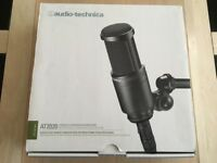 NEW! Audio-Technica AT-2020 Studio Microphone with Foam Windshield