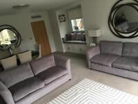Two Grey Sofas in Excellent Condition