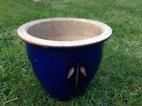 Free blue flower pot
