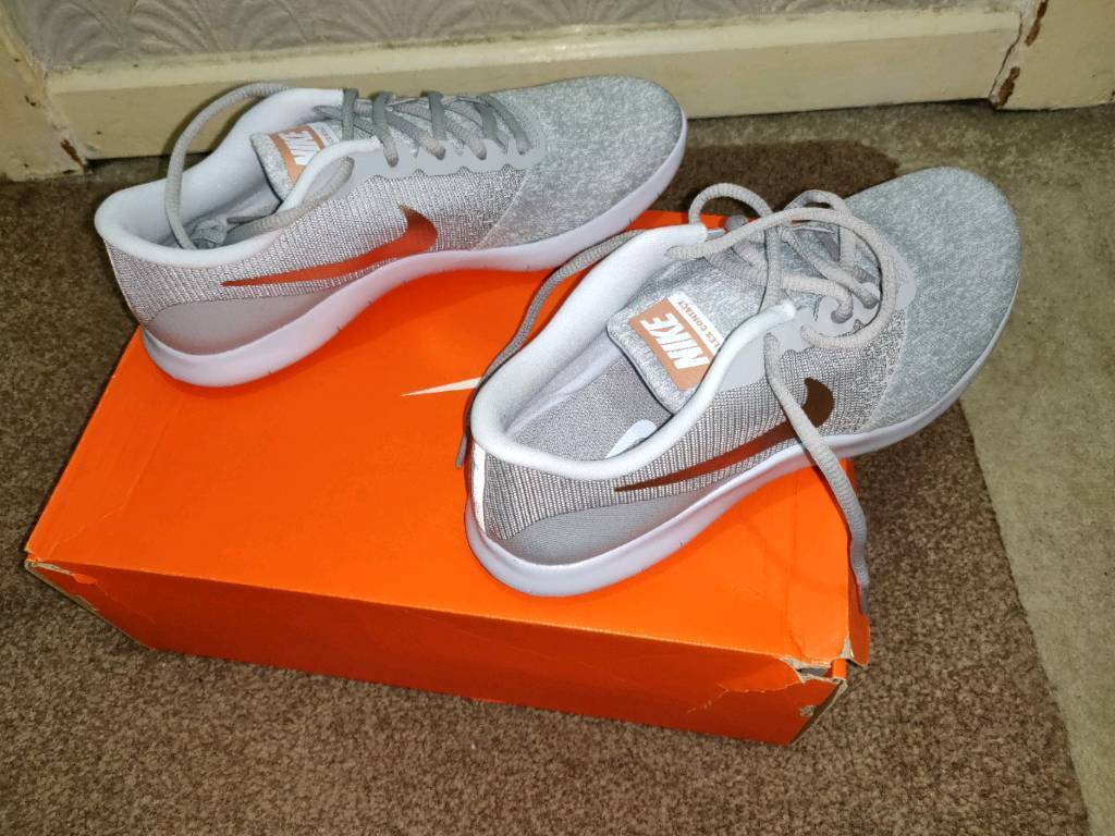 eb00253b671 Nike Flex Contact Women size UK8   EUR42.5 Wolf Grey   Rose Gold ...
