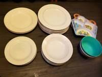 Plates, dessert plates and bowls