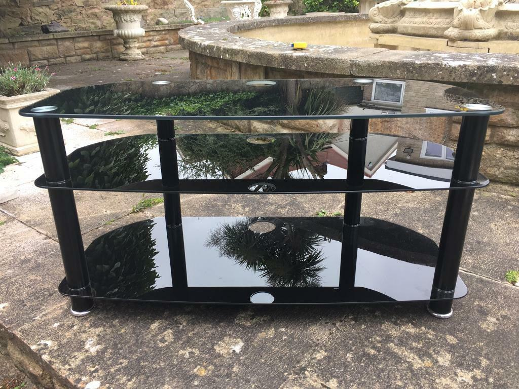 Superb Large Black Glass Tv Stand In Prestatyn Denbighshire Gumtree Uwap Interior Chair Design Uwaporg