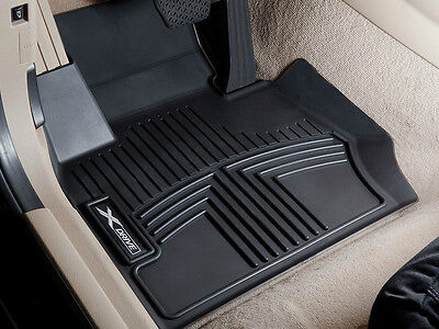 Genuine BMW E70 X5 All Weather Floor Liners Molded Mats Black Front and Rear