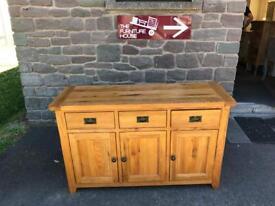 Solid oak 3 door / drawer sideboard * free furniture delivery *