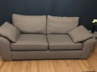 NEXT large grey 3 seater sofa and matching storage footstool