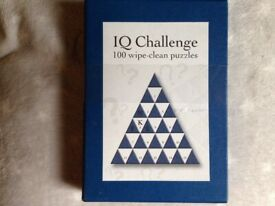 THE IQ CHALLENGE 100 WIPE CLEAN PUZZLES GAME. NEW.