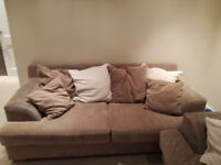 3 Seater & 2 Seater Sofa - very comfortable beige and cream sofa