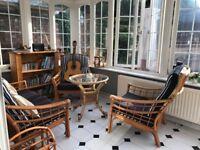 Conservatory 4 piece furniture set + bookcase