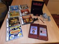 "NINTENDO DSi XL "" RED "" >> Including << 7 GAMES,>> & Leather case"