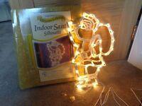 Santa Xmas Window Lights