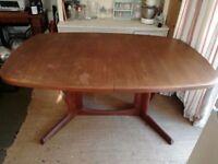 1960s Gudme Mobelfabrik teak dining table.
