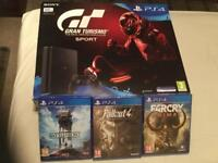 LOOK BRAND NEW SEALED PS4 WITH 4 SEALED GAMES