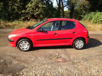 PEUGEOT 206 5 DOOR HATCHBACK, NEW CAMBELT , DRIVES LIKE NEW. LONG MOT.