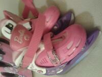 Barbie Skates and Girls Helmet